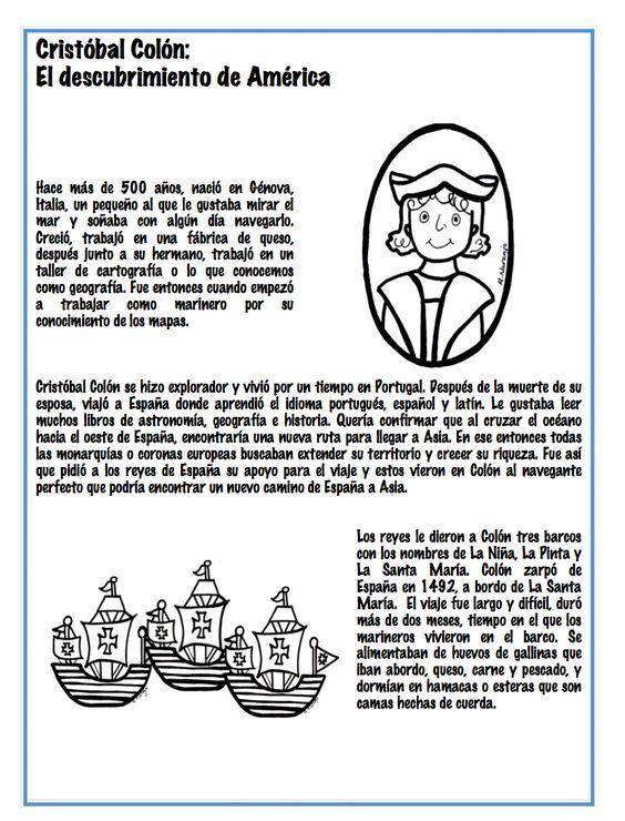 Imagenes Del Dia De La Raza Para Ninos Con Frases Para Pintar Imprimir Y Descargar Spanish Classroom Learn To Speak Spanish How To Speak Spanish