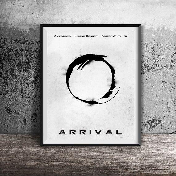 movie poster printarrival alternative movie poster printablemnimal film artprintable