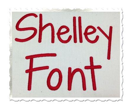 $2.95Shelley Machine Embroidery Font Alphabet