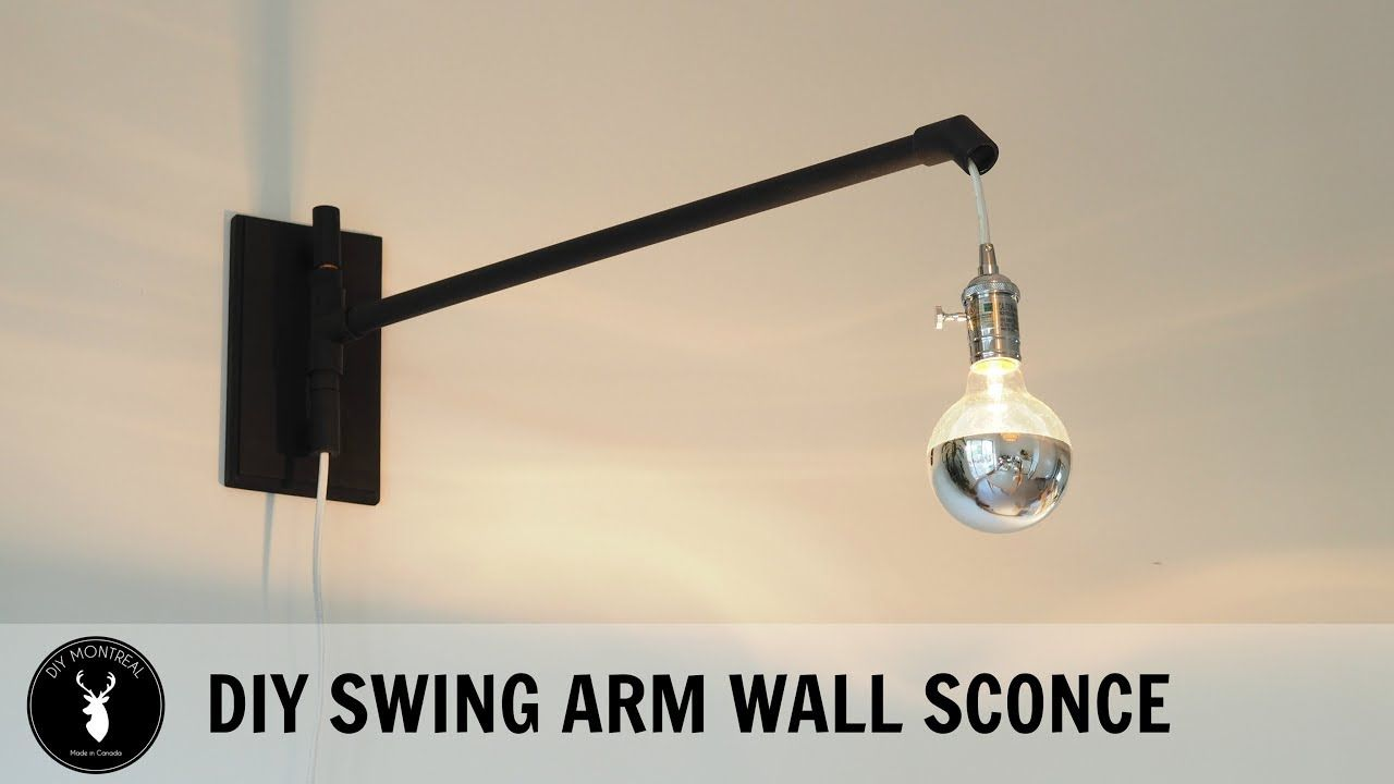 Diy Swing Arm Wall Sconce Wall Sconces Swing Arm Wall Sconce Sconces