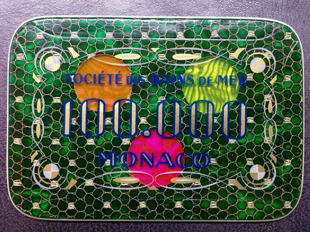 100 000 Plaque Casino Monaco Sbm Monte Carlo Societe Des