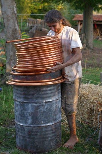 Mise en place du0027un chauffe-eau sur ce rocket-stove Rocket stoves