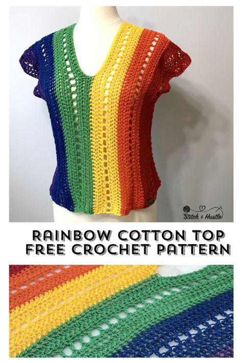 Riviera Tee Free Crochet Pattern #pattern
