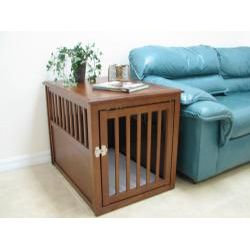 cool end table dog crate furniture | cool dog kennel slash end table | To buy...maybe ...