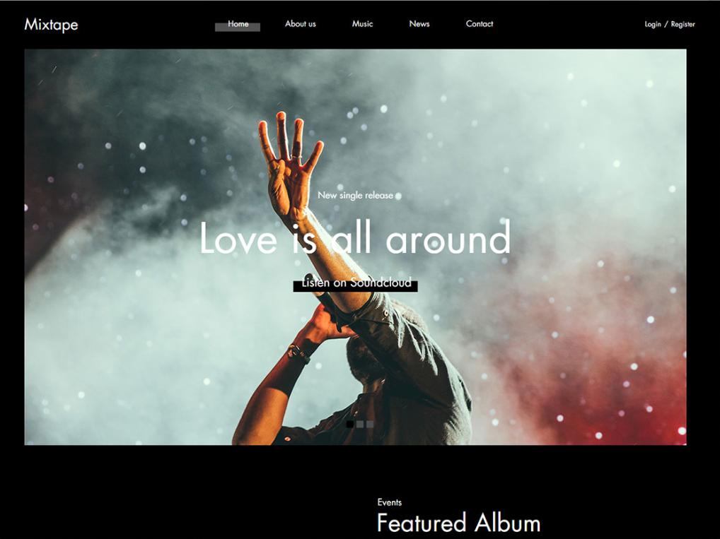 Free Music Artist Platform Html Template Website Design Courses Music Artists Web Design