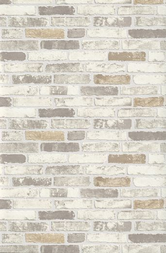 Brix Brick Effect Wall Cream / Beige / Taupe