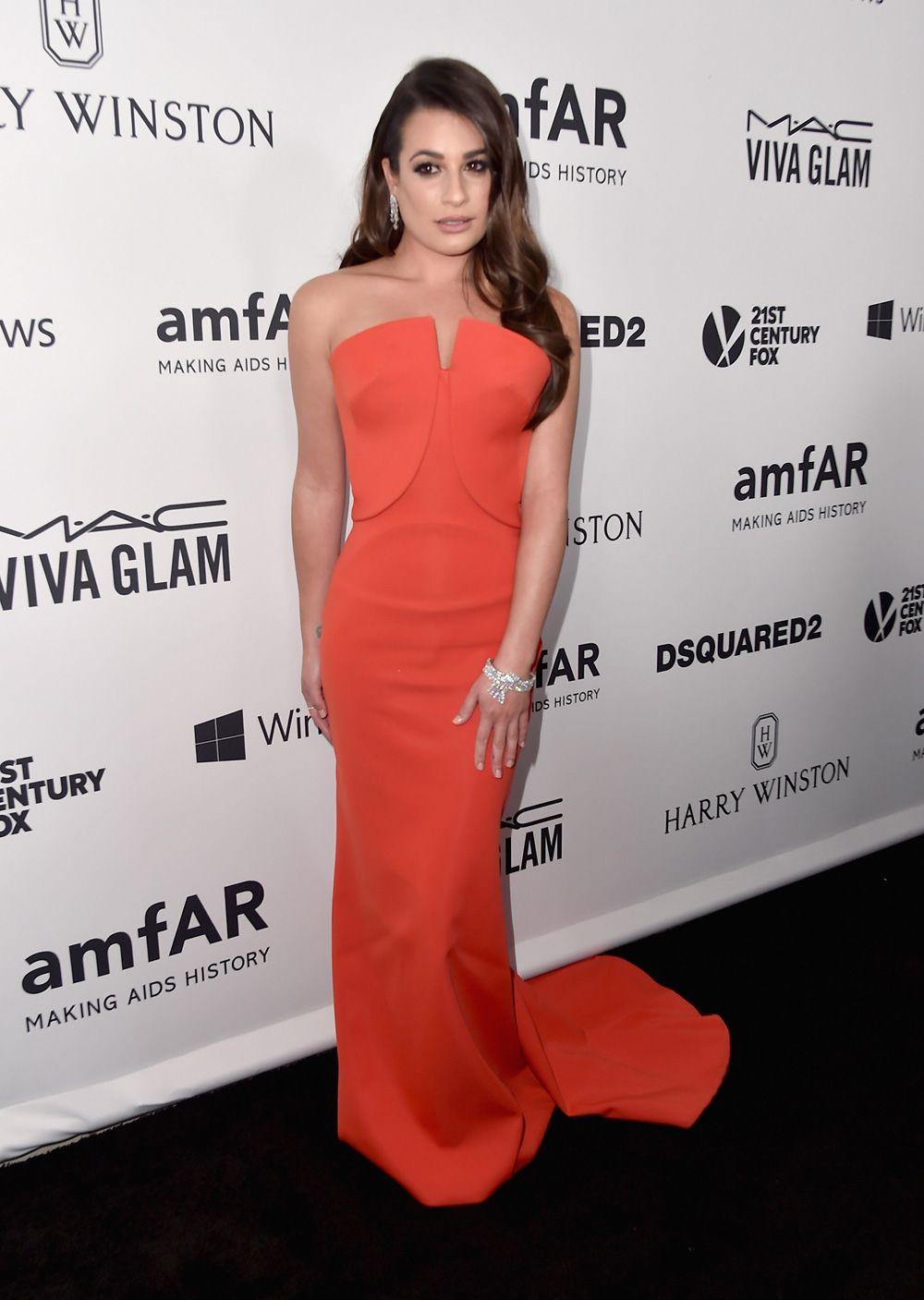 Lea Michele - jantar de gala do amfAR.