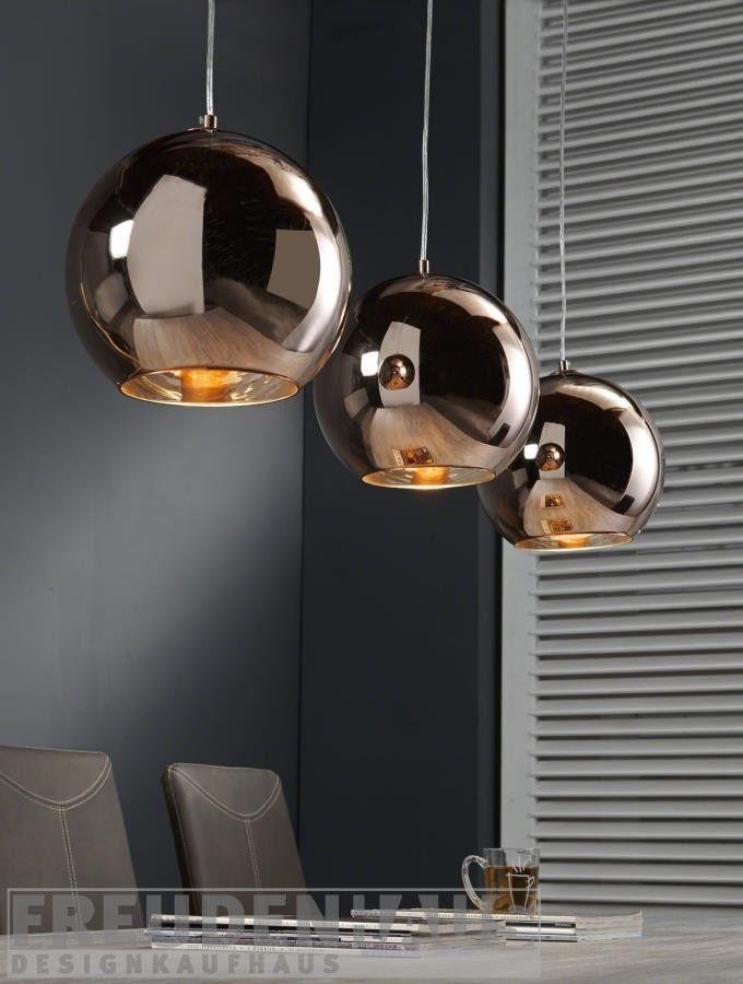 Hängelampe Retro Ball 3 Kugeln Kupfer Lampen Esszimmer