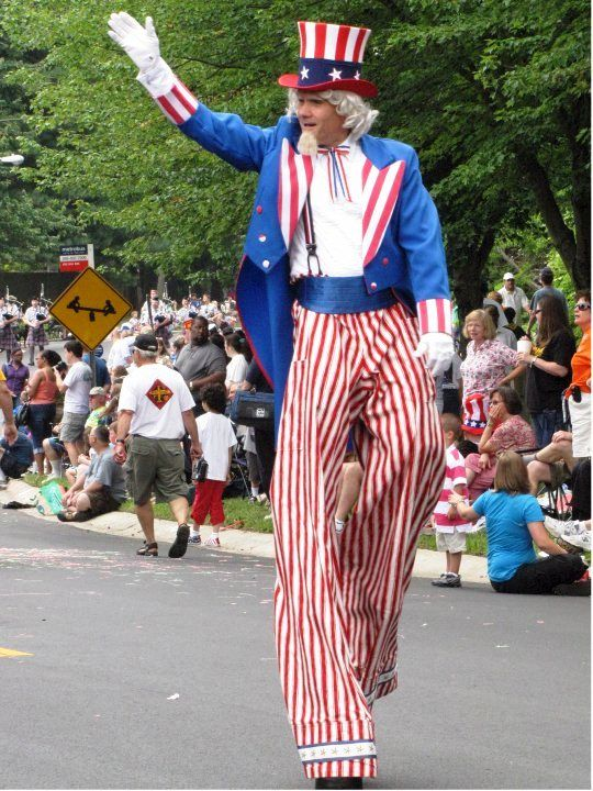 Uncle Sam on stilts great for patriotic themes and events!