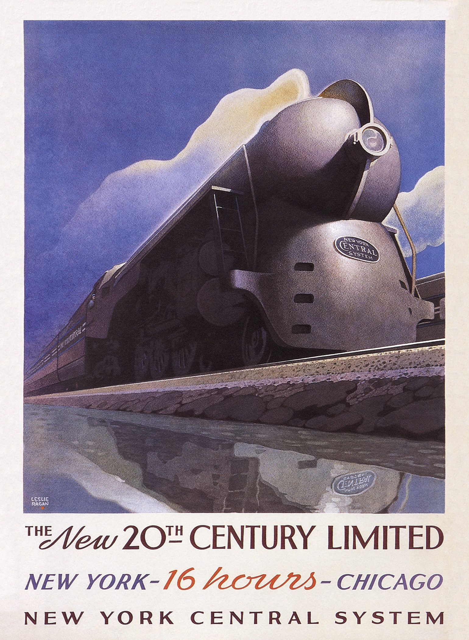 Art DecoTravel Poster//Railroad Poster//New York Central