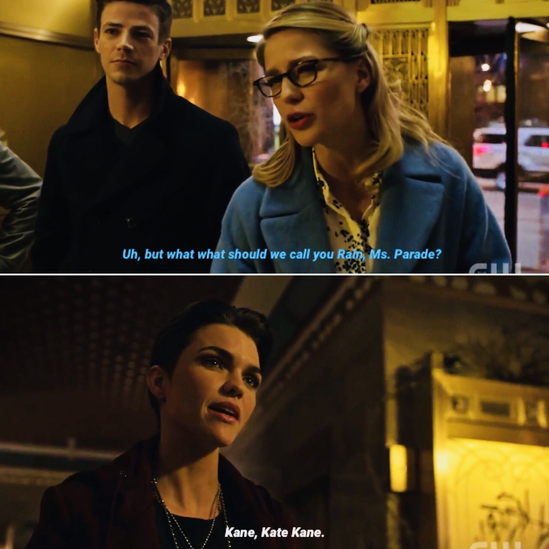 Arrow 7x09: Elseworlds Part 2  Oliver, Barry and Kara meet