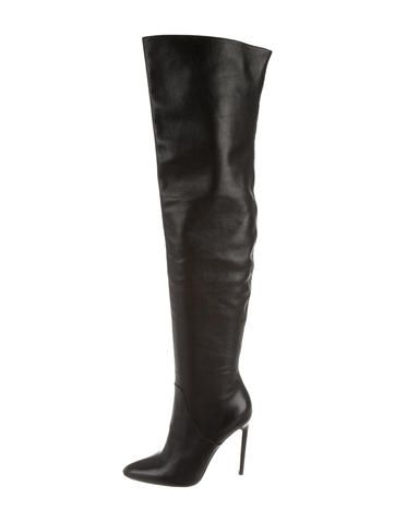 sale clearance store amazon footaction Alexander Wang Pointed-Toe Over-The-Knee Boots clearance 100% original PoptRR5G
