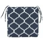 Home Decorators Collection Landview Navy Square Outdoor Seat Cushion