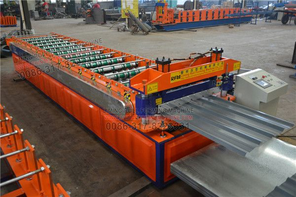 Another Is Testing For Our Finished Machine After One 914 Metal Roofing Machine Is Finished We Test The Machine Agai Steel Roof Panels Roofing Metal Roof