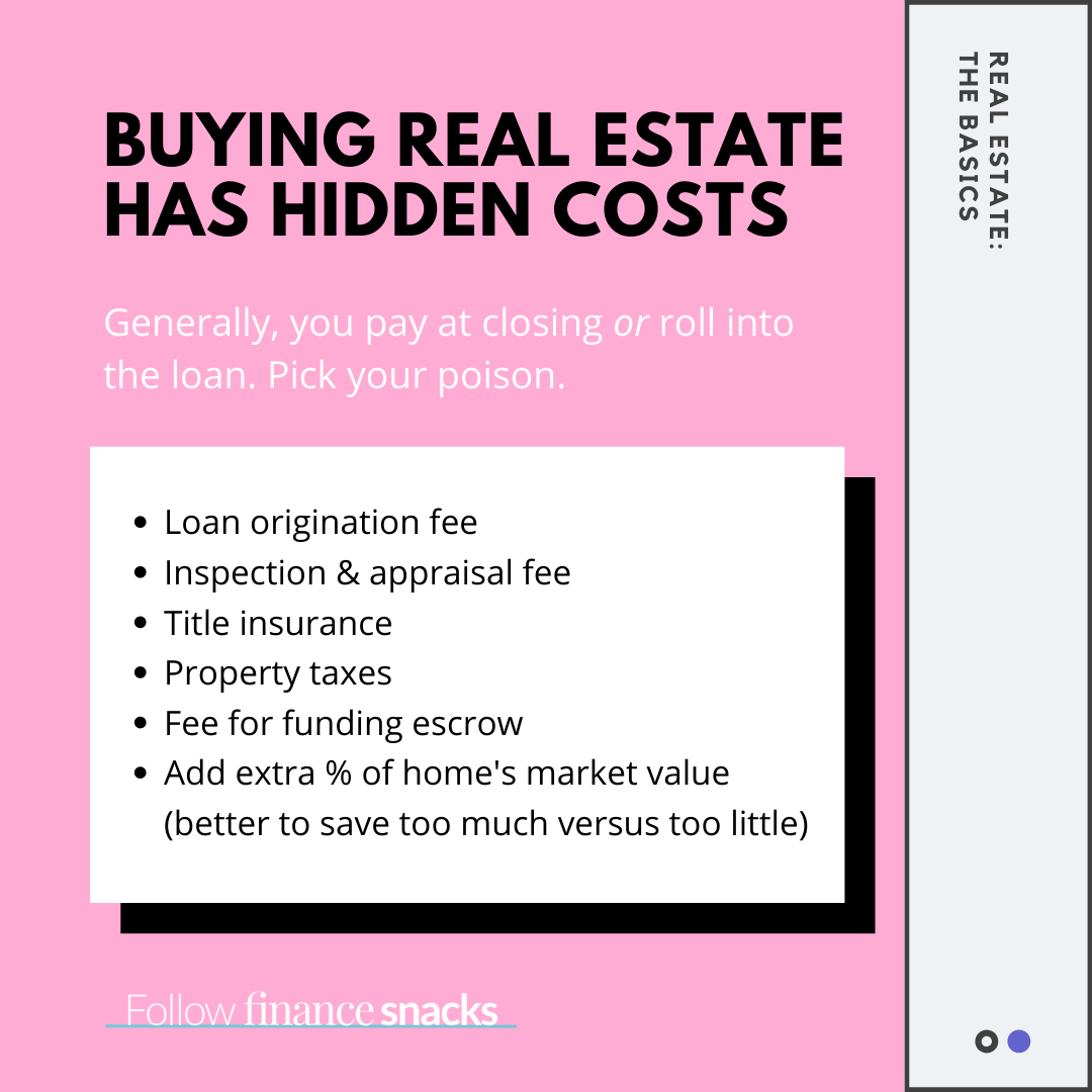Buying Real Estate Has Hidden Costs In 2020 Private Mortgage