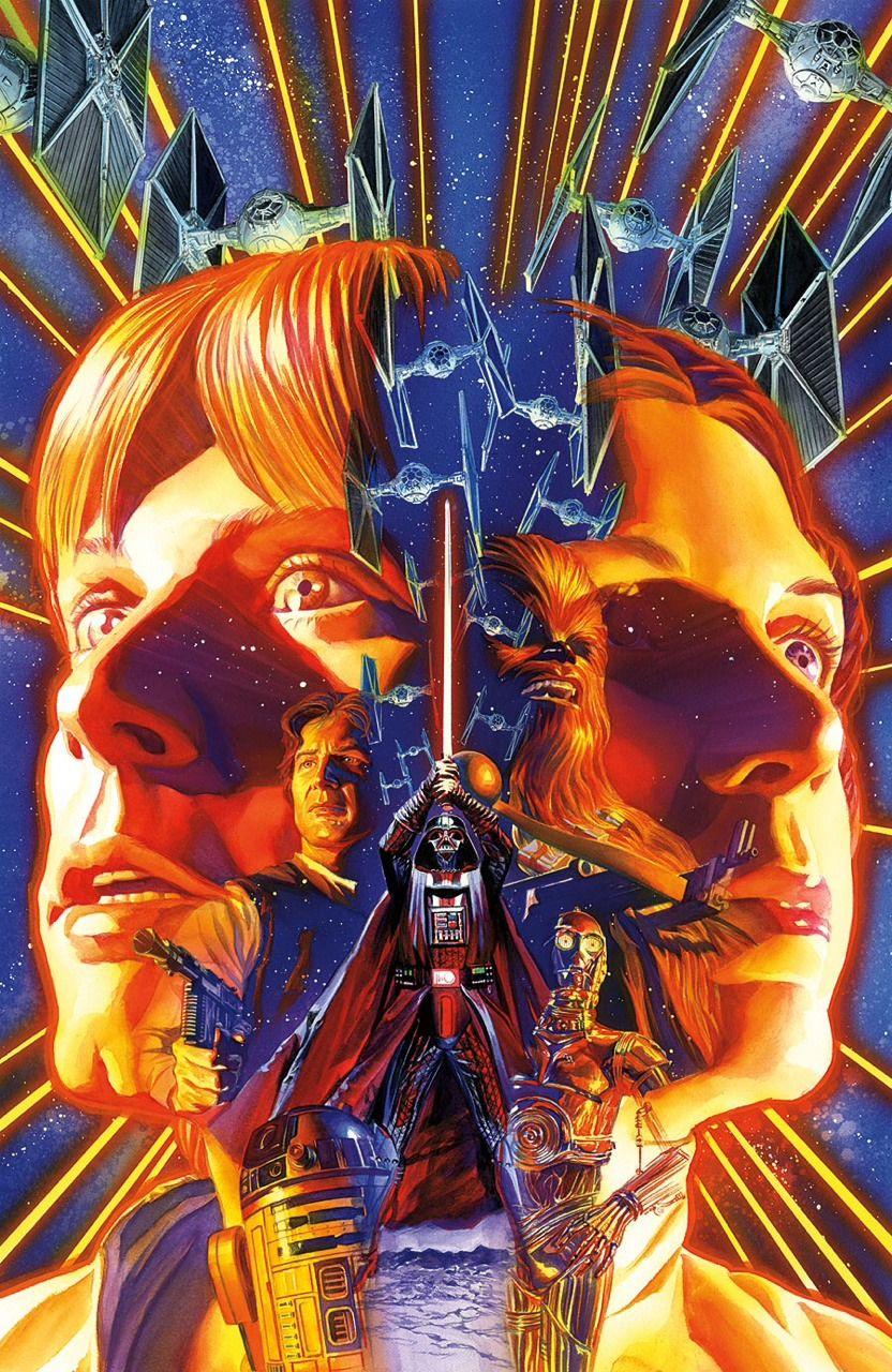 Star Wars By Alex Ross Star Wars Illustration Star Wars Awesome Star Wars Poster