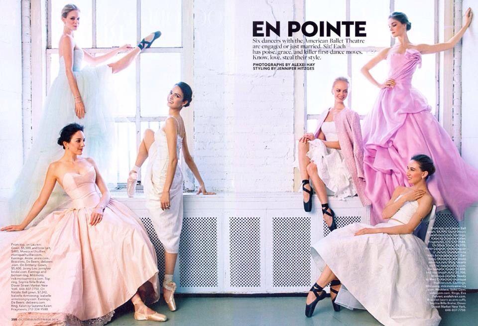 Ballet dancers model wedding styles