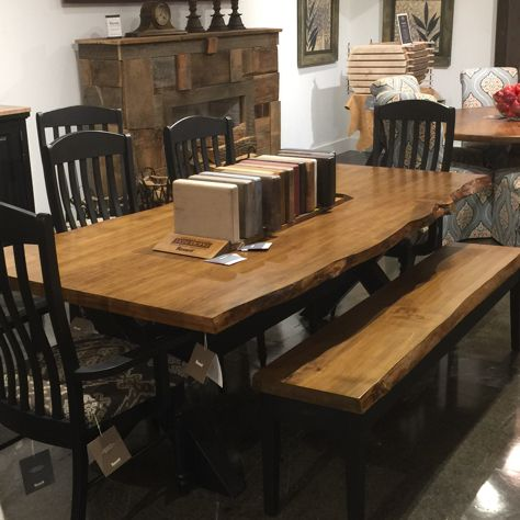 Bassett Benchmade Live Edge Dining Table And Chairs Live Edge