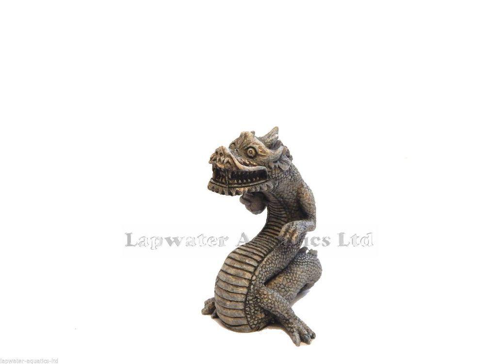 Chinese Japanese Dragon Statue Aquarium Ornament Oriental Fish Tank