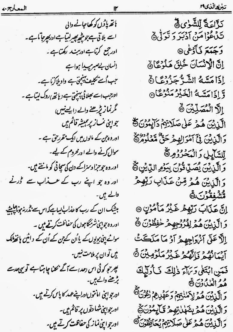Quran Pak Para 29 Translation with Translation – Quran