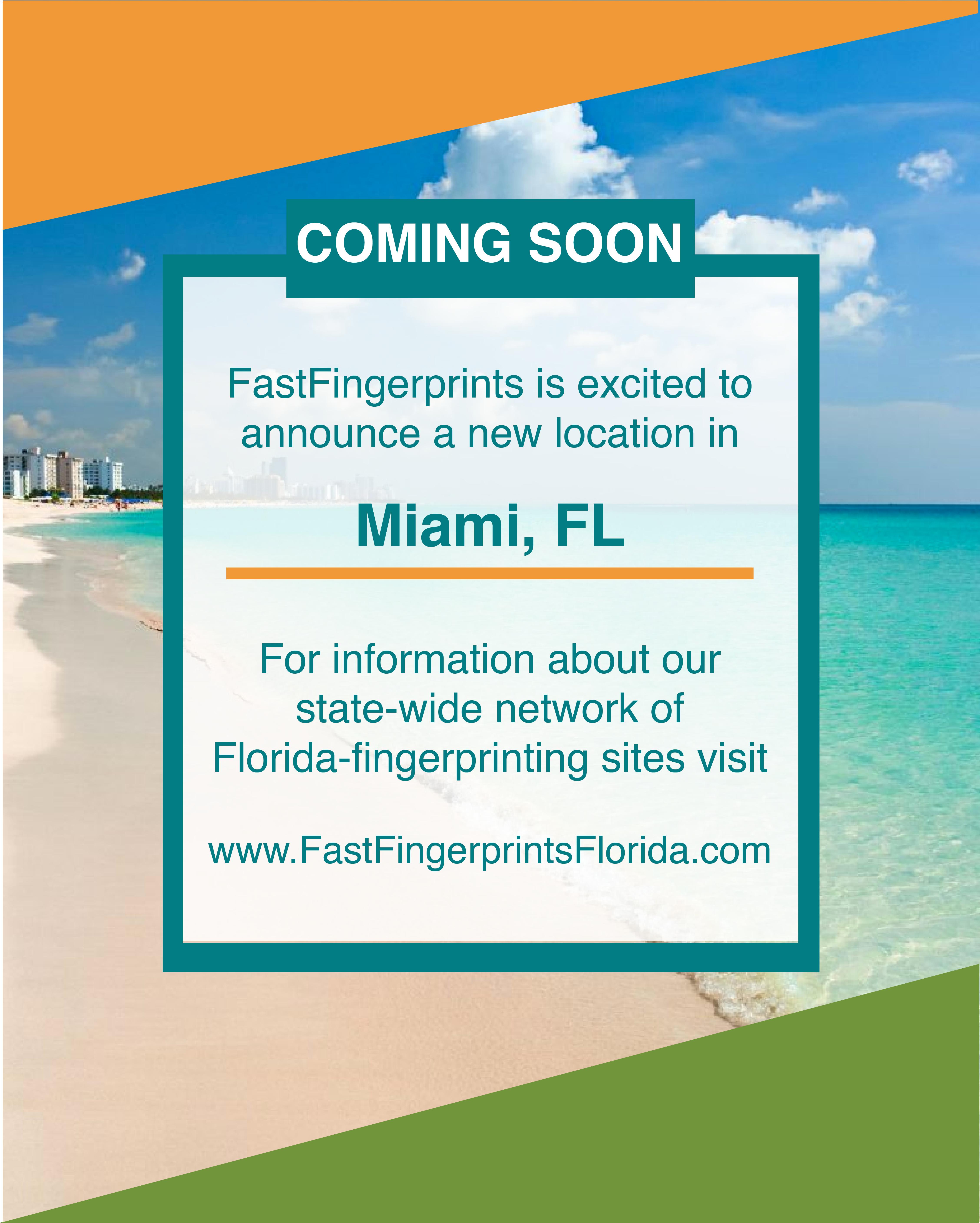 Fastfingerprints Miami Florida Background Check Locations