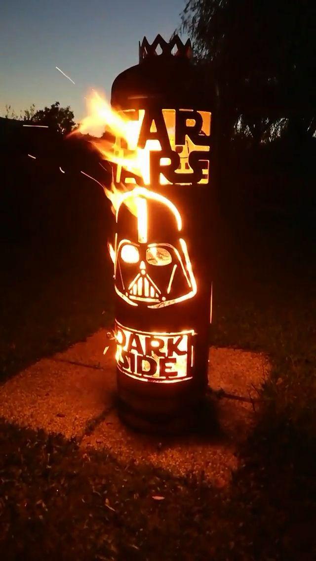 Feuerstelle Star Wars Gasflasche