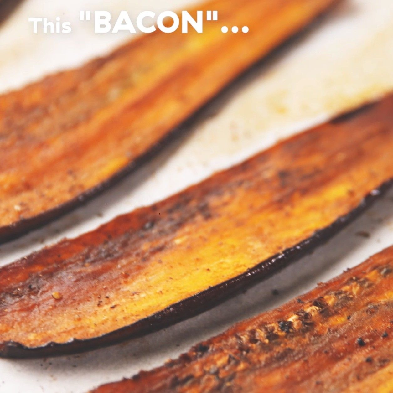 vegetarian eggplant bacon is perfect when you need something savory for your sandwich. Get the reci