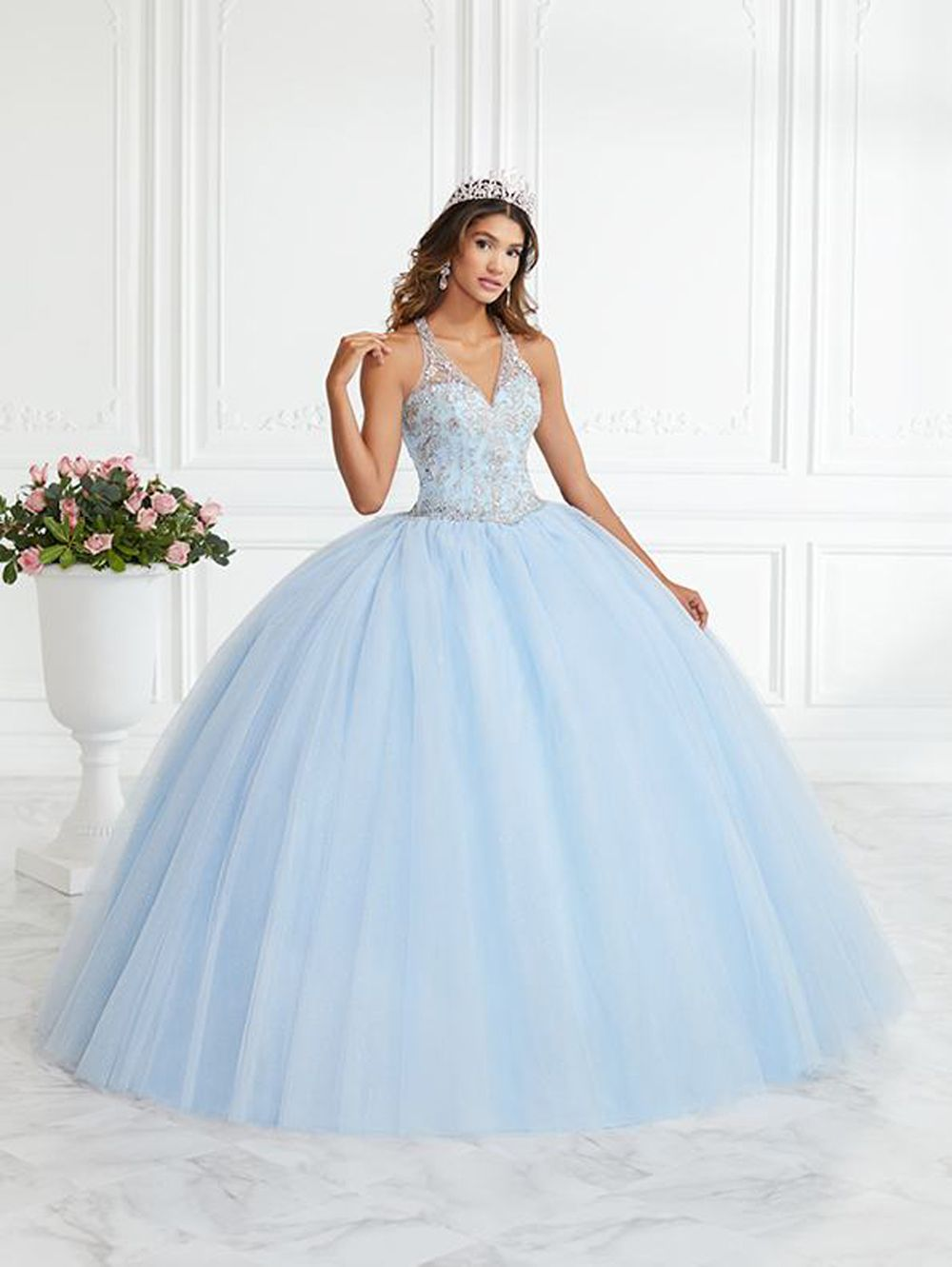 House Of Wu 56394 Strappy Back Quince Dress Quinceanera Dresses Blue Quincenera Dresses Pretty Quinceanera Dresses [ 1331 x 1000 Pixel ]
