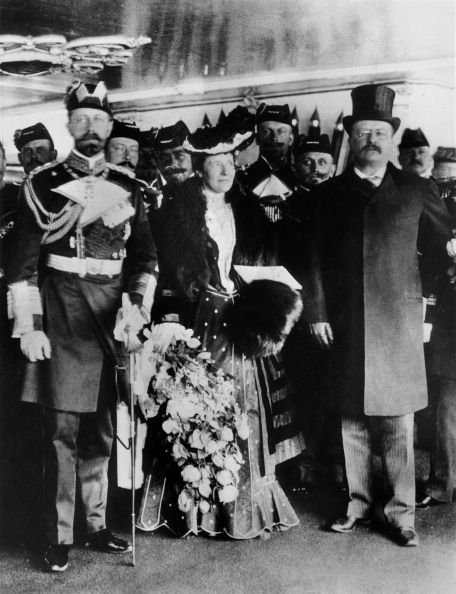 Prince Heinrich Of Prussia Son Of Emperor Frederic Iii Of Germany Visiting With The President Of The United States Theodore Roosevelt And His Wife...