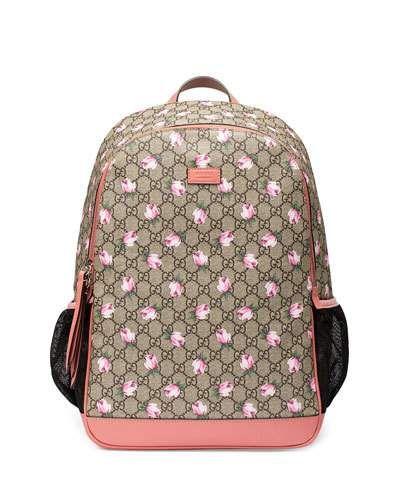 a136c6e991f9 Classic GG Supreme Rose Backpack Diaper Bag