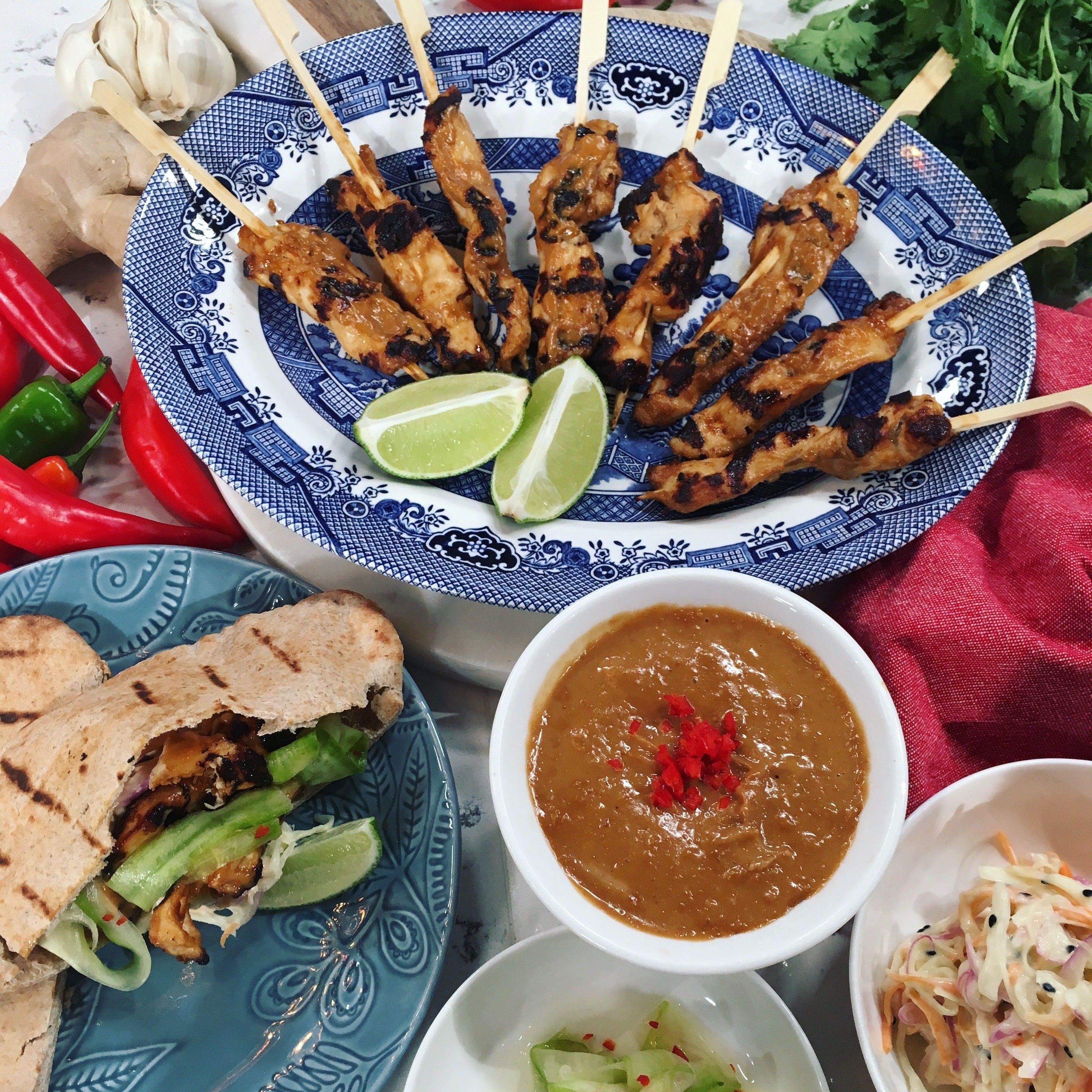 Gok's easy chicken satay | Chicken satay recipe, Gok wan ...