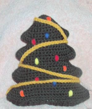 Christmas Tree Pillow Crochet Pattern Uncinetto Natale