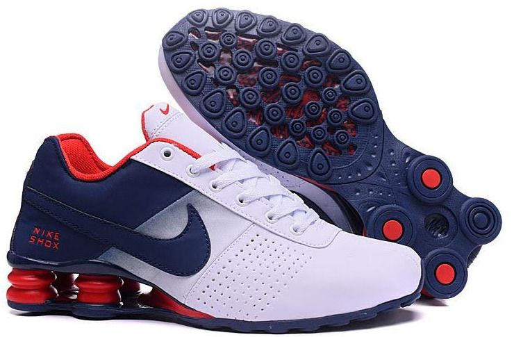 Nike Shox Red White And Blue Size 8.5 Men Athletic Sneakers ...