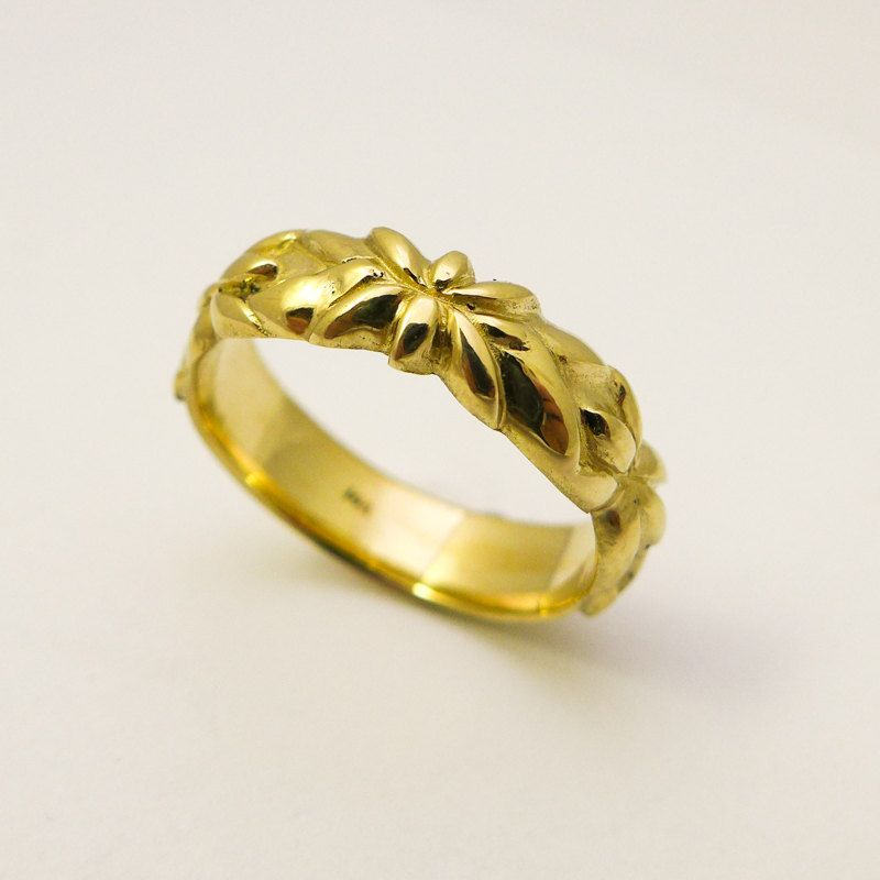 14 karat gold lotus wedding ring for women Gold ring with floral