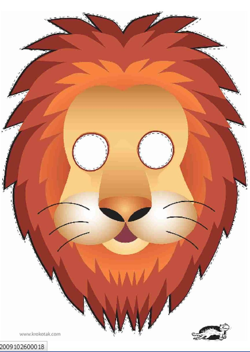 Old Fashioned image pertaining to printable lion masks