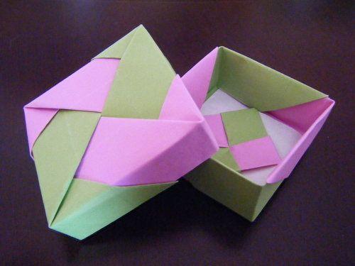 ハート 折り紙 折り紙 箱 正方形 : pinterest.com