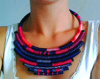 African Jewelries African Necklace Multicolored African Jewelry Tribal Necklace