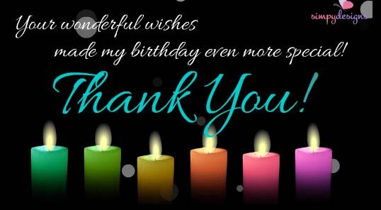 THANK YOU FOR BIRTHDAY WISHES Thanks for birthday wishes