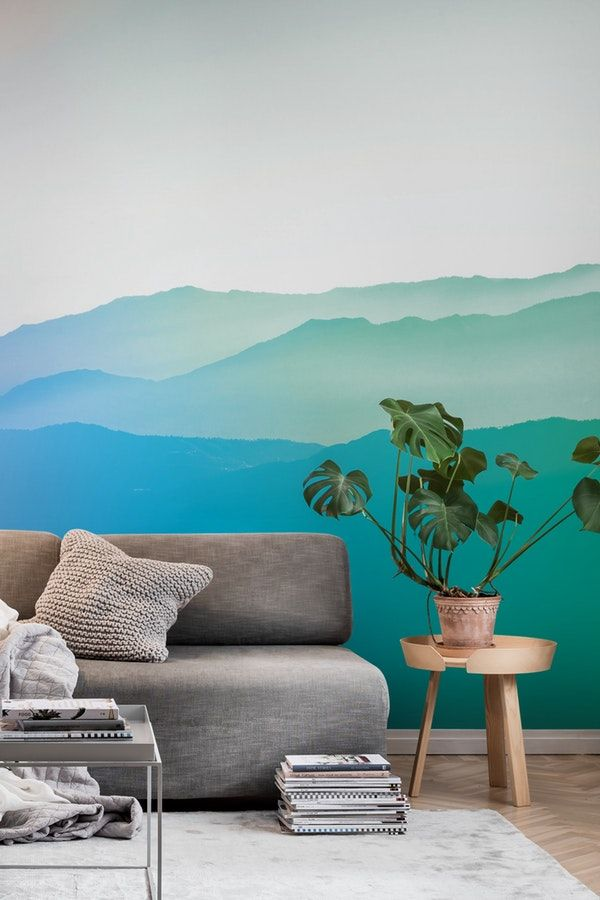 Gradient mountains Wall Mural / Wallpaper Landscapes in