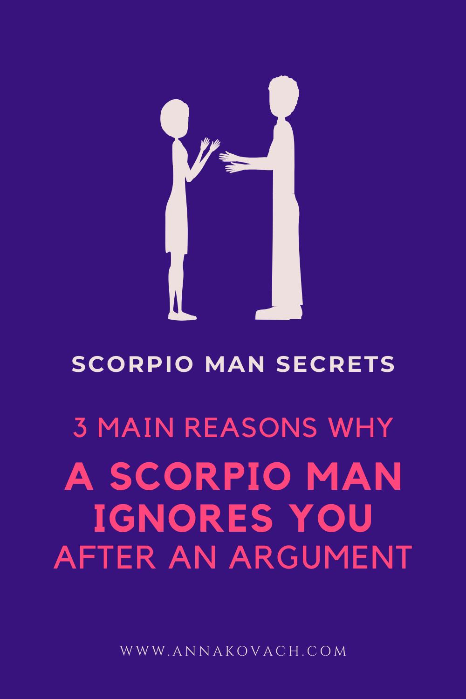 When a scorpio ignores you