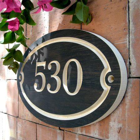Elegant oval house number engraved plaque made in polyurethane finished mdf the contrast between  hand painted dark subtle texture and carved also best casita ideas images diy for home numbers rh pinterest