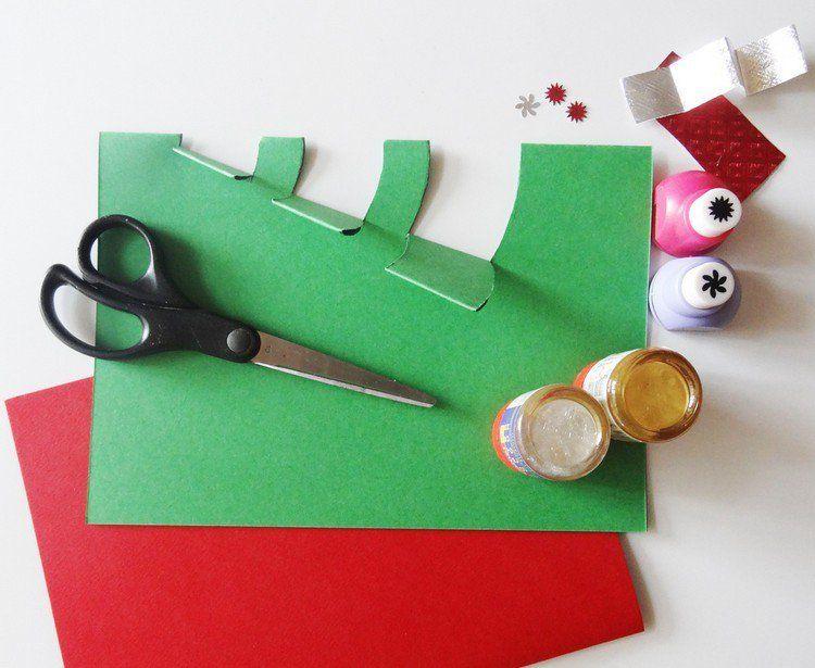 Célèbre Carte Pop-up Noël à fabriquer et décorer soi-même | Noël diy  OV49