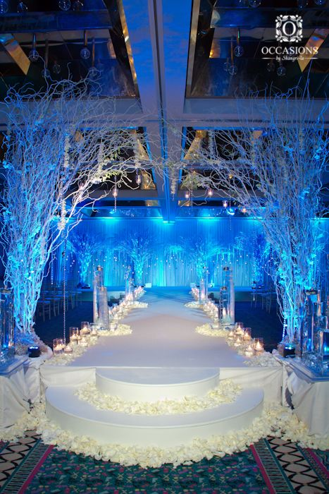 Winter Wonderland Theme Occasions By Shangrila Wedding Reception
