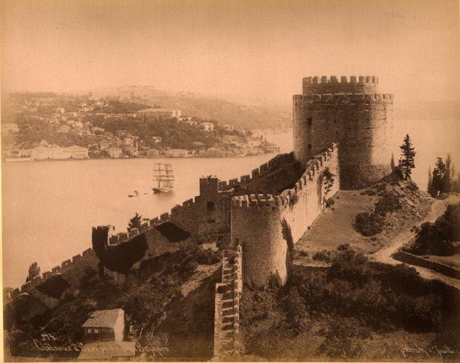 Istanbul 1880s   Castle of Europe on the Bosphorus Sebah and Joallier