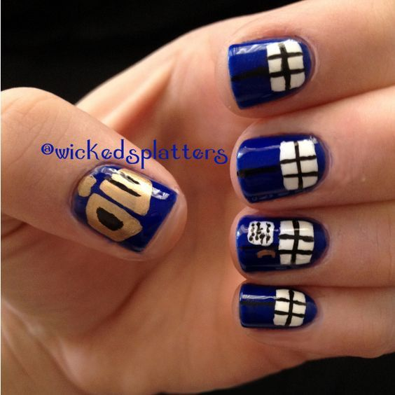 Mad man in a box – Doctor Who nails   Mad men and Sally hansen