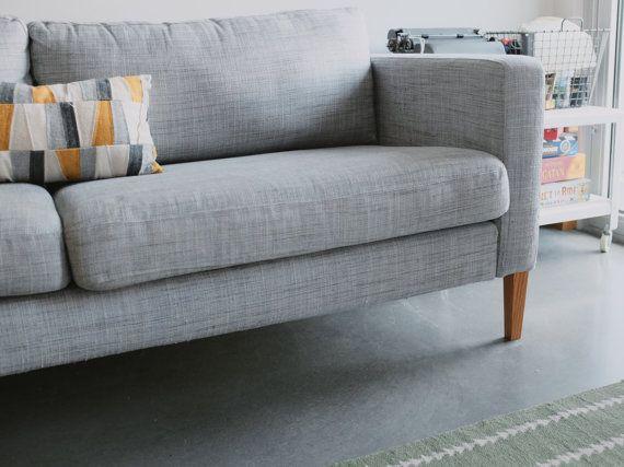 Tapered Ikea Karlstad replacement legs in 2018 | lady + maker ... on honey badger on hind legs, ektorp legs, henderson legs, godmorgon legs,