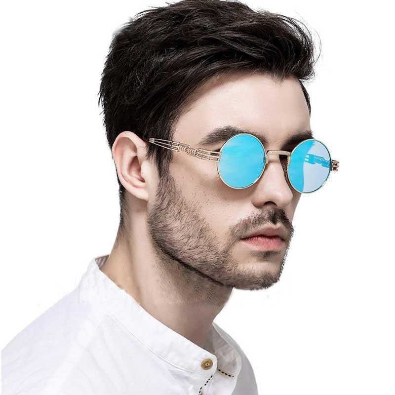 e262e8a2b87 Steampunk Sunglasses Men Gothic Round Shades Retro Coating Glasses Fashion  Women  fashion  clothing  shoes  accessories  mensaccessories ...