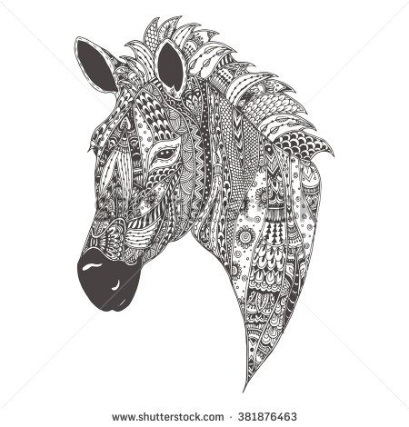 giraffe colouring pages for adults - Buscar con Google My works - copy zebra coloring pages free printable