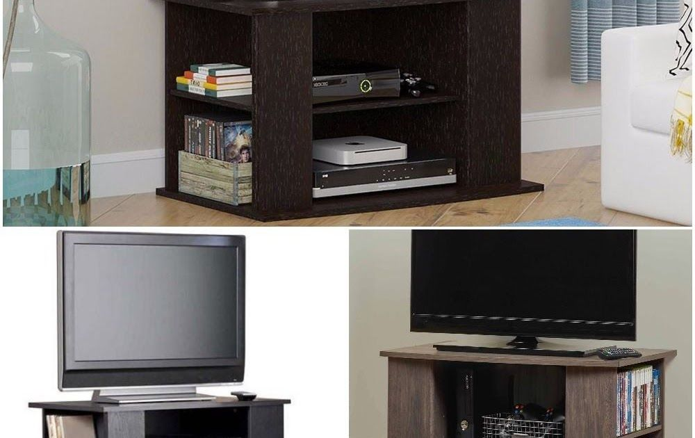 Tv Stand Side Storage Wood Entertainment Center Media Console Black