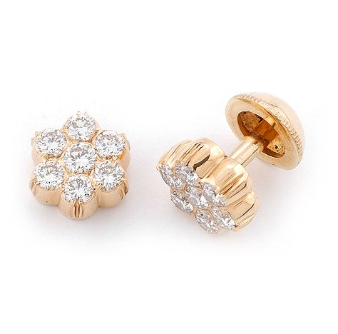 Traditional South Indian Diamond Earrings See More Stunning Jewelry At Stellarpieces